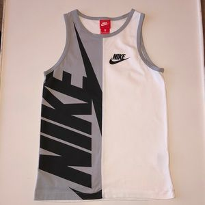 Nike Gray and White Tank